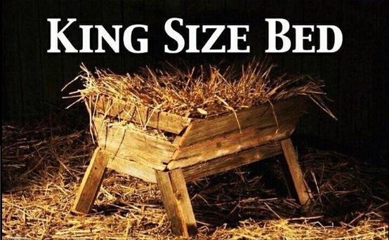 Jesus-manger-king size bed