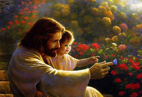 Fatherjesus-with-little-girl