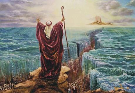 moses parting sea