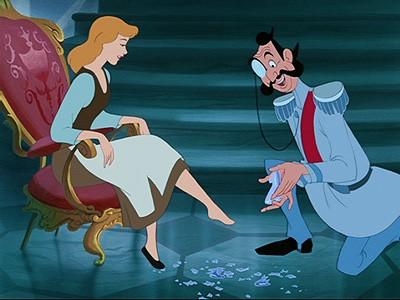Cinderella-glass slipper broken