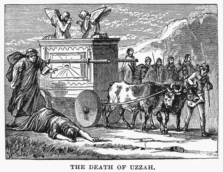 ark of covenant-death of uzzah-engraving