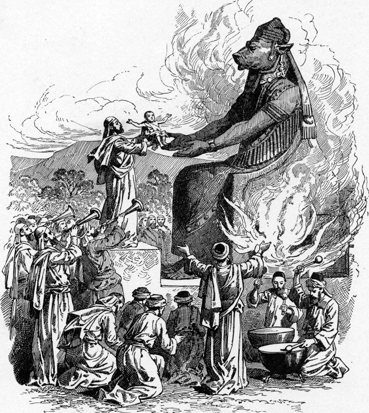 offering_to_molech-1897-bible-pictures-idols-demand-sacrifices