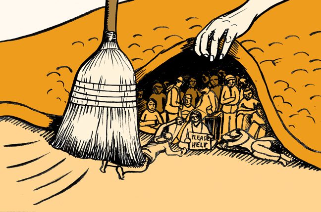 sweeping-it-under-the-rug - People are Suffering