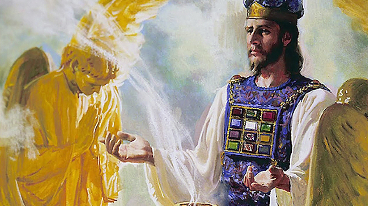 High-Priest buring incest in the temple before the Ark of the Ceovenant- holy of holies
